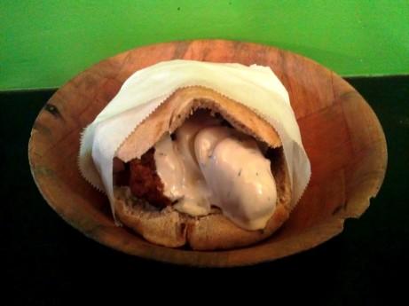 Falafel Sandwich from Taim Falafel on Waverly in NYC