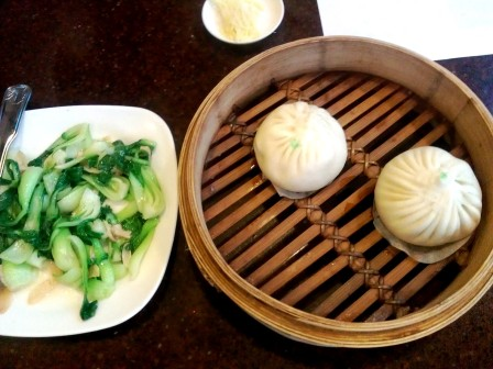 Sauteed Bok Choy and Pork Buns